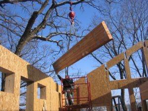SIP Walls Pre-Cut for Header Installation