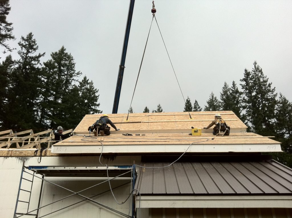 SIP Roof Install on Camp McLean Scout Camp Machine Shop