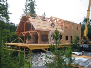 Adding SIP Roof Panels on Timber Frame Home