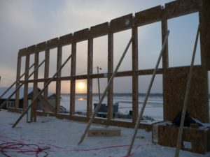 SIP Construction in Winter