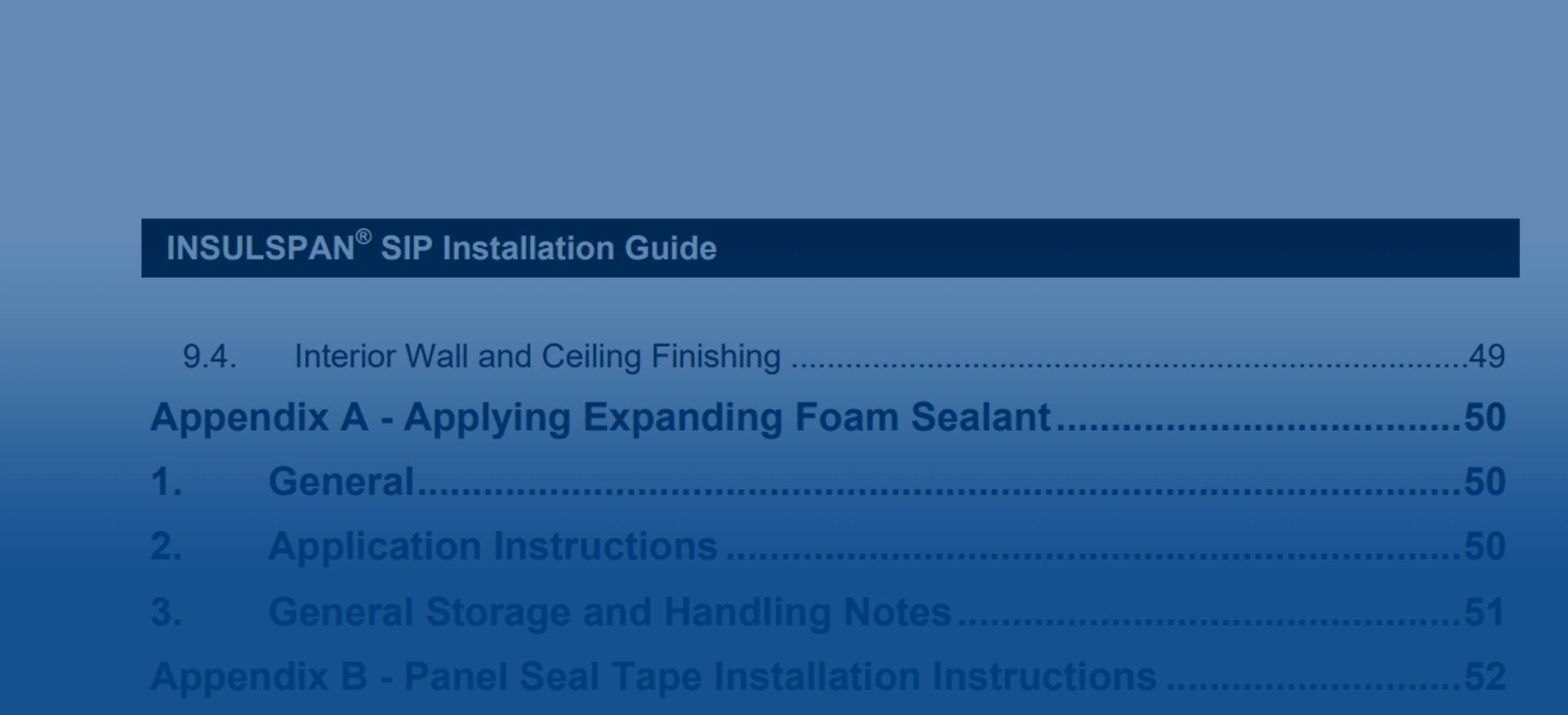 Insulspan Installation Guide