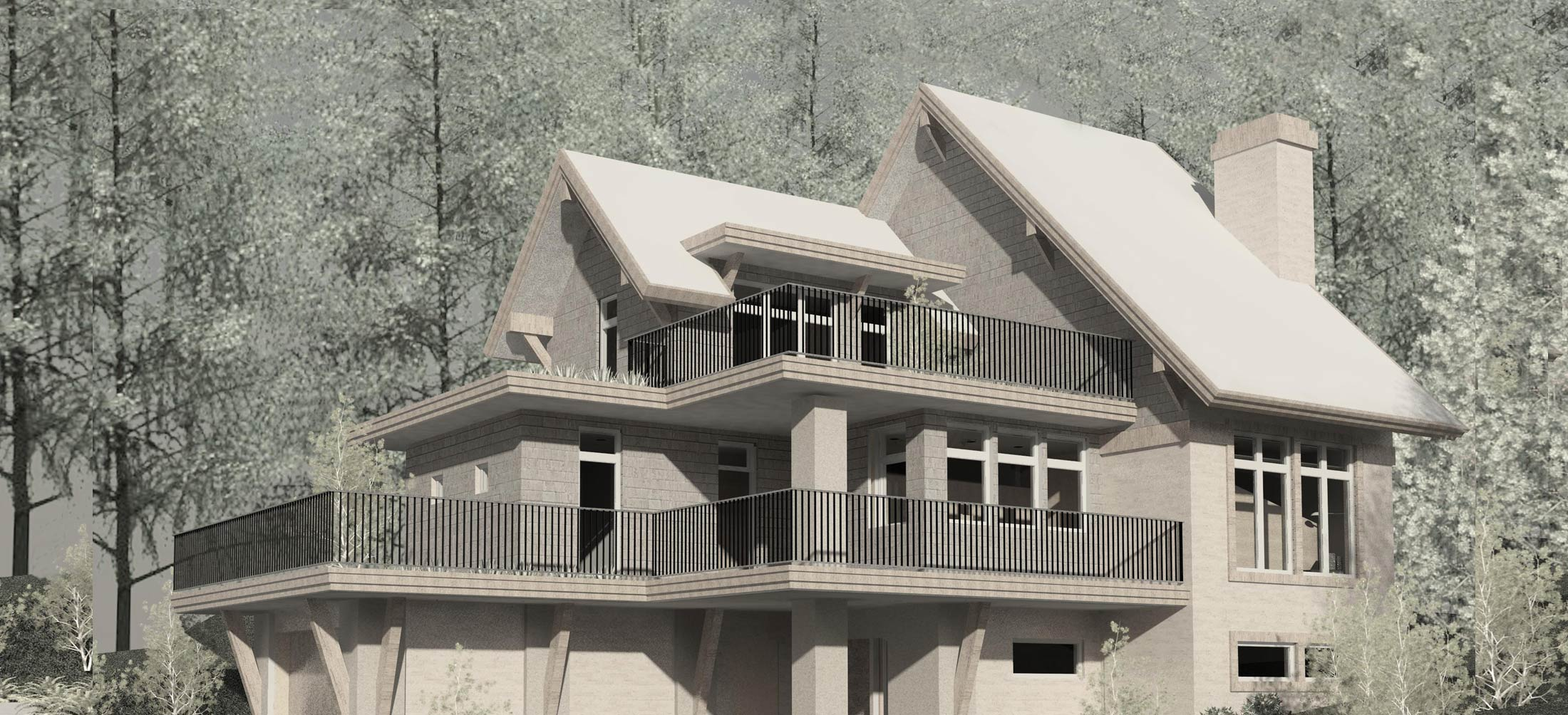 net-zero-home-Whistler Rendering